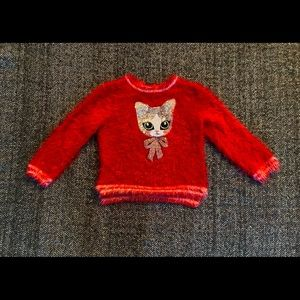 H&M ugly Christmas sweater with sequins detailed cat